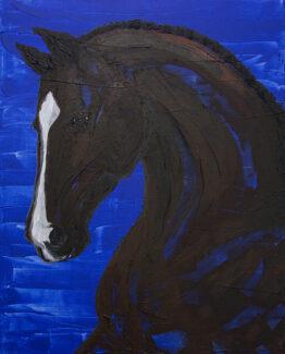 horse-dark-blue-brown